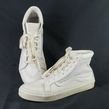 Vans Off The Wall White Leather High Top Skateboard Shoes Sz 6.5 Mens 8 ... - $23.02