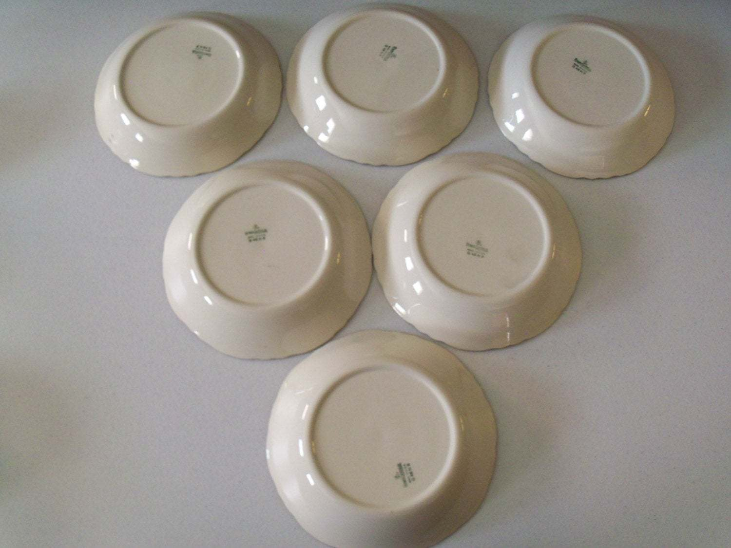 Homer Laughlin Maple Leaf Set Of Six Soup Bowls image 5