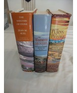 3 Jean M. Auel Books: - Plains of Passage - Mammoth Hunters - Shelters o... - $10.80