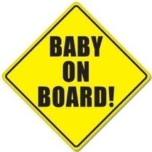 "Baby on Board Baby Safety Sign Car Sticker 5"" X 5"" 2 - $7.47"