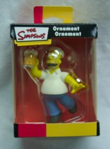 "The Simpsons HOMER SIMPSON W/ BEER 3"" CHRISTMAS TREE ORNAMENT NEW - $16.34"
