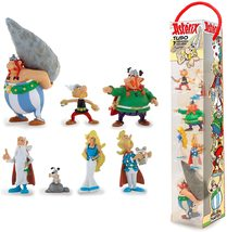 Asterix and friends set of 7 plastic figurine in tube Plastoy