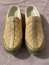 Easy Spirit Womens Traveltime Leather Low Top Slip On Gold Size 8.5  - $47.02 CAD