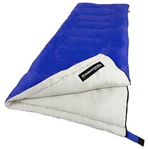 Sleeping Bag, 2-Season with Carrying Bag for Adults and Kids (Blue) - $35.95