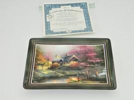 Thomas Kinkade's – Hometown Memories – Stepping Stone Cottage – Wall Plate  - $17.50