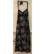 J CREW Womens Black Beige Floral Maxi Long Halter Top Dress 0 - $18.95