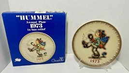 """Vintage 1973 """"Hummel"""" Annual Plate in bas relief - $34.76"""