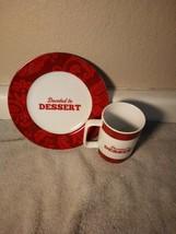 CAKE BOSS--PATTERNS & QUOTES--COFFEE MUG / PLATE SET-----FREE SHIP--VGC - $23.58