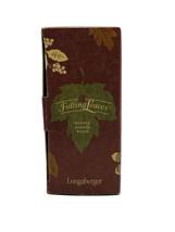 *Longaberger 'Falling Leaves' Pewter Napkin Rings x4 W/ Box 77984 - $24.74