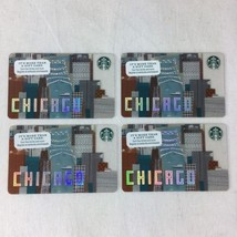 Starbucks Chicago 2016 Architecture River Gift Card Lot of 4 New No Value - $12.73
