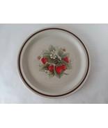 "Haniwa Stone Glendale 3403 Strawberries 12"" Chop Plate/Round Platter Rare - $15.83"