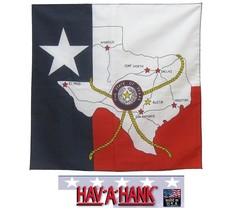 Texas State Karte Kopftuch Flag Lone Star Schal Kopf Hals Gewickelt Tasc... - $7.97