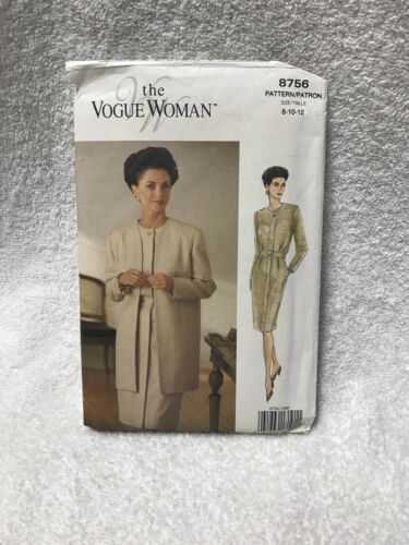 The Vogue Woman 8756 Misses Miss Petite Jacket Dress Sewing Pattern