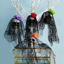 Skull Bride Home Decorations Halloween Foam Bone Head Hanging Party Supp... - $2.84