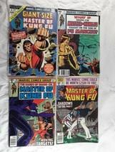4 Master of Kung Fu Comic Books 1974 1979 1980 Marvel Comics  - $12.00