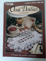 Leisure Arts Leaflet #2791 - Oval Doilies to Crochet - 8 Designs - $7.12