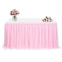 Tulle Table Skirt, FAMIROSA Tutu Tablecloth Skirting for Rectangle or Ro... - $27.27
