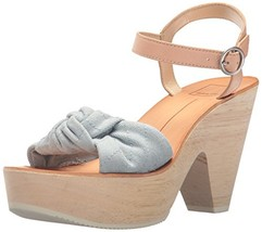 Dolce Vita Women's SHIA Wedge Sandal, LT Blue Denim, 10 M US - $36.59