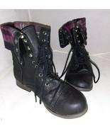SM New York Boots Corey Blsck Punk Rock Combat Boots 23742 Size 6.5M - $24.40