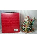 Fitz & Floyd Old Fashioned Christmas Tea Pot Santa In Box - $50.39
