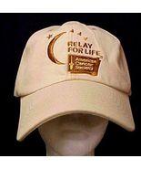 Relay For Life Low Rider Baseball Hat Caregiver Cancer Awareness Tan Cap New - $12.71