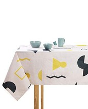 ModeHome Square Tablecloth 55 x 55 Inch The White Grid, Washable Tablecl... - $22.83