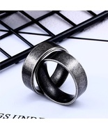 Retro Color Stainless Steel Hip hop Men ring Titanium Ring Fashion jewelry - $29.00