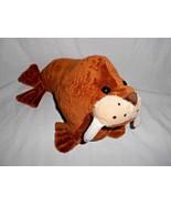 "Fiesta Brown Walrus Plush Stuffed Animal Long Tusks Sea Ocean Life 12"" - $14.71"