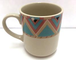 Sango Stoneware Zuni Southwestern Boho Print Multicolor Coffee Mug 25247... - £7.11 GBP