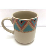 Sango Stoneware Zuni Southwestern Boho Print Multicolor Coffee Mug 25247... - $9.89