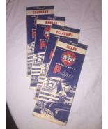 Set of 4 1950s Vintage Derby Oil Co Paper State Road Maps OK, TX, KS, CO... - $27.50