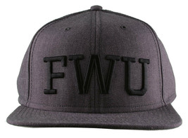 Crooks & Castles F.W.U Fu*k with Us Heather Charcoal Snapback Baseball Hat NWT