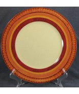 Pier 1 Lugano Dinner Plate Stoneware Orange Band Geometric Design - $14.95
