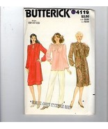 Vtg Butterick Sewing Pattern 4119 Volup Dress Top Skirt Neck Tie 18-20-22 - $12.38