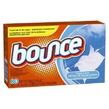 Bounce Dryer Sheets Fresh Linen Scent Fabric Softener 80 Ct Box - $10.84