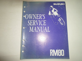 1992 Suzuki RM80 Owners Service Manual Stained Factory Oem Book 92 Deal - $19.79