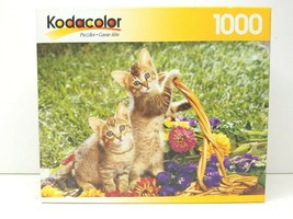 Kodacolor Spring Innocence Cute Kitty Cats Playing 1000 Pc Puzzle Fun Gi... - $21.77