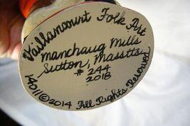 Vaillancourt Folk Art Santa & Pinecones Collector's Wkd signed by Judi! image 4