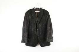 Coppley Mens 40R 2 Button Distressed Micro Suede Blazer Suit Coat Jacket... - $24.70