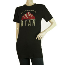DSquared2 D2 Black Womans Short Sleeve Wool UTAH Long T-Shirt Top - Size M - $108.90