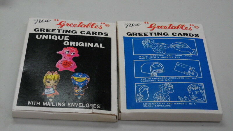 Primary image for 1971 Greetables Inflatable Greeting Cards New in Box