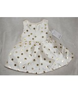 Just One You Carter's Special Occasion Ivory Dress Gold Dots Newborn Reb... - $19.79