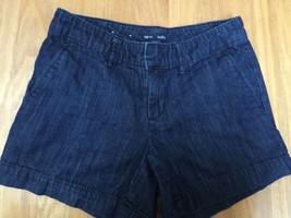 Dark Denim Womens Shorts Blue Jeans Gap Hadley Summer 0 Four Pockets Teens - $14.45
