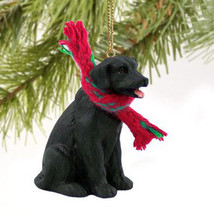 LAB LABRADOR RETRIEVER (BLACK) DOG CHRISTMAS ORNAMENT HOLIDAY Figurine S... - $9.50