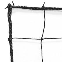 Just For Nets JFN Soccer Backstop/Barrier Net, Black, 10' x 10'
