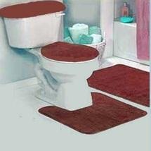 Burgundy Bathroom Rug Set 4 PC - $29.99