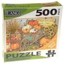 Lang 500 Piece Jigsaw Puzzle Harvest Wheelbarrow Artwork Susan Winget Ar... - $13.59