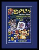2001 Electronics Boutique EB Paper Mario 11x14 Framed ORIGINAL Advertise... - $32.36