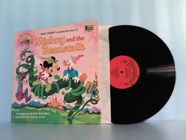 DISNEY~DISNEYLAND MICKEY & BEANSTALK LP RECORD ALBUM & STORYBOOK 1968 #S... - £31.60 GBP
