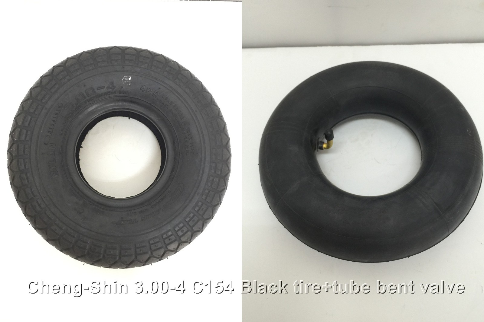 <MSP>X1set Tire +tube 3.00-4 C154 260X85 ChengShin mobility scooter Shopri - $16.00